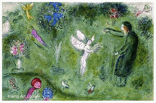 Chagall Daphnis and Chloe 1977 Print 320mm x 480mm Philetas and His Orchard