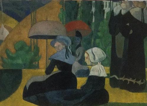 Emile Bernard, Breton Women with Parasols