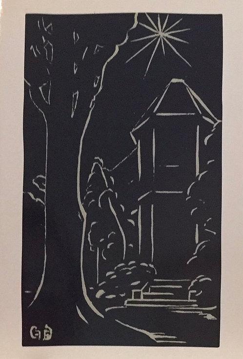 Frances Derham, Christmas Card, Artist's Home