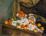 Paul Cezanne, Compotier, Pitcher, and Fruit (Nature morte), 1892-94