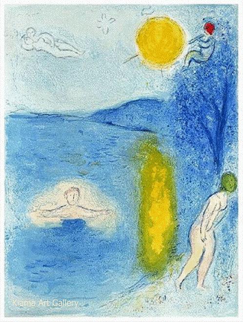 Chagall Daphnis and Chloe 1977 Print 320mm x 240mm Summertime
