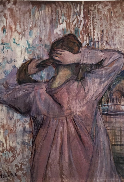 Henri de Toulouse-Lautrec, Combing her Hair