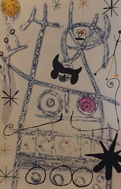 Joan Miro, The Foresters, Blue