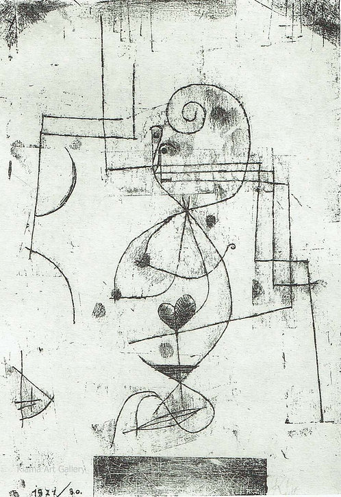 Paul Klee -  Queen of Hearts