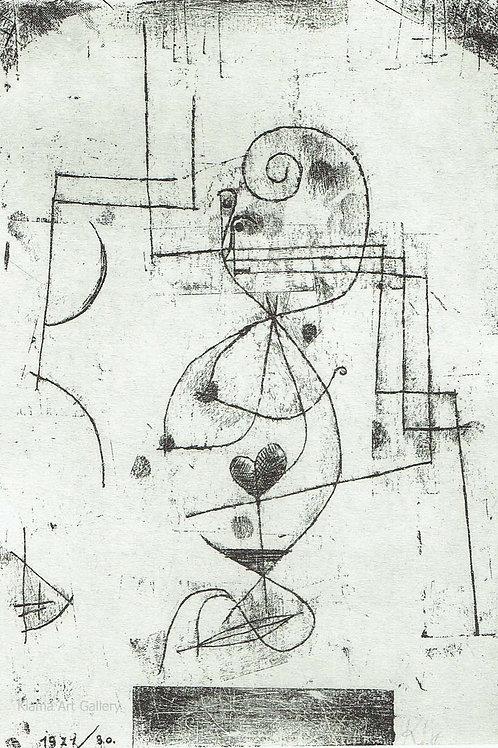Paul Klee -  Queen of Hearts