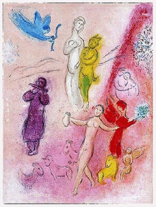Chagall Daphnis and Chloe 1977 Print 320mm x 240mm The Tale of Syrinx
