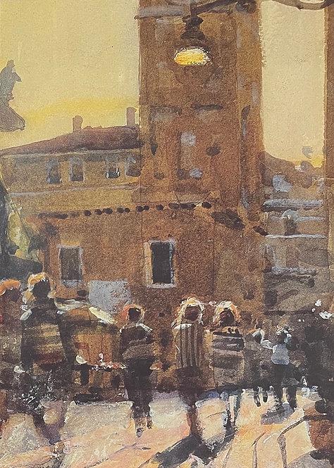 Ken Howard, Contre Jour, Santa Maria Formosa, Venice, 1988
