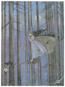 Ida Rentoul Outhwaite, The Witch on her Broomstick