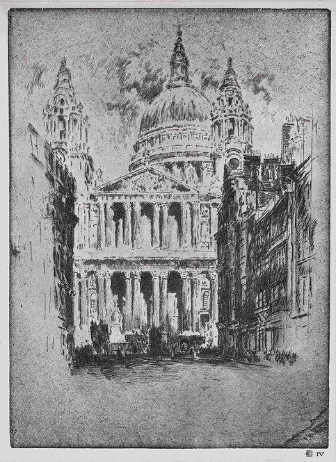 Joseph Pennell,  St Paul's Fleet Street