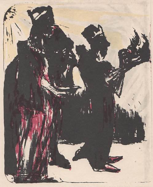 Emil Nolde Tipped in plate