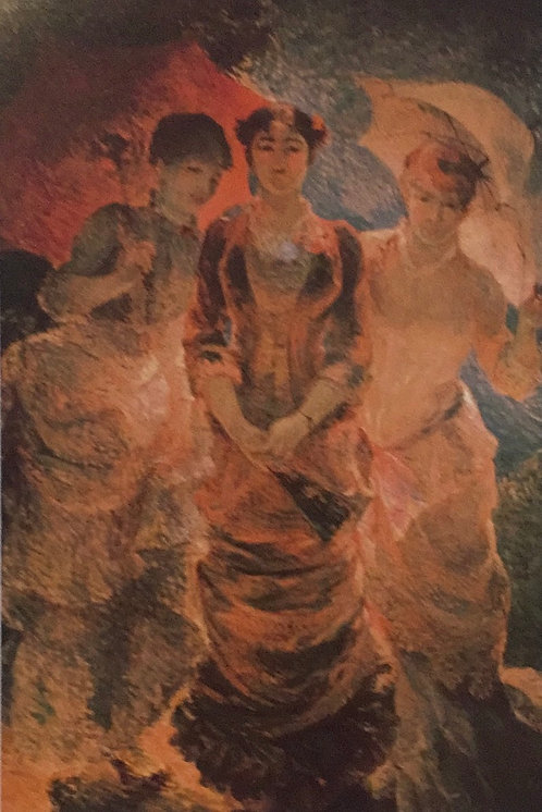 Marie Bracquemond, Three Women with Umbrellas, 1880