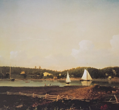 Fitz Hugh Lane, Fresh Water Cove from Dolliver's Neck, Gloucester (detail)