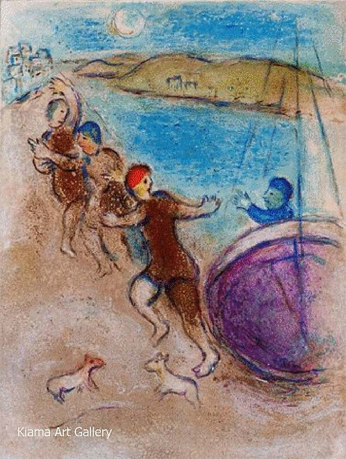 Chagall Daphnis and Chloe 1977 Print 320mm x 240mm The Young Men of Methymnaens