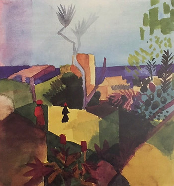 August Macke, Landscape at the Seashore