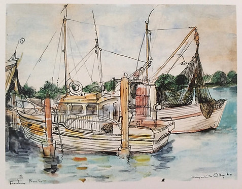 Margaret Olley, Fishing Boats, Tweed Heads
