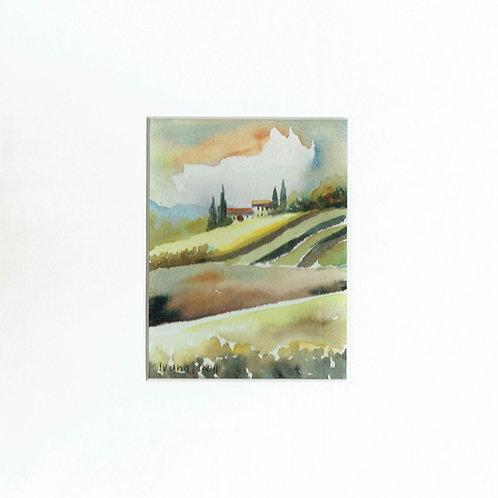 di Frederick Ivanaj,  Italian Scene, watercolour