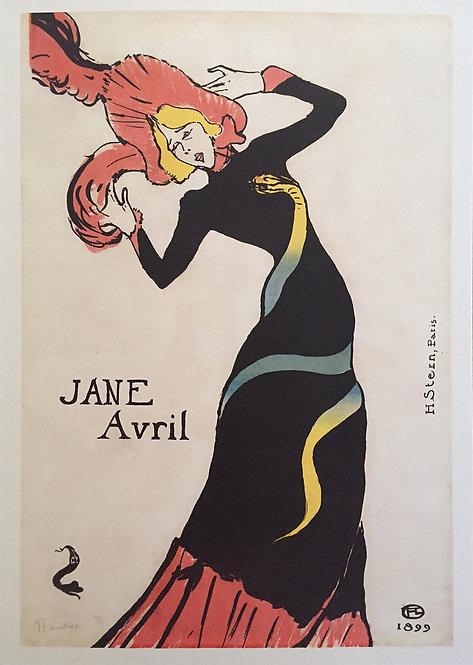 Edgar Degas poster reproduction - Jane Avril