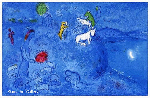 Chagall Daphnis and Chloe 1977 Print 320mm x 480mm Spring