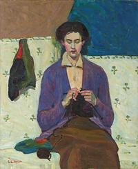 Grace Cossington Smith, The Sock Knitter