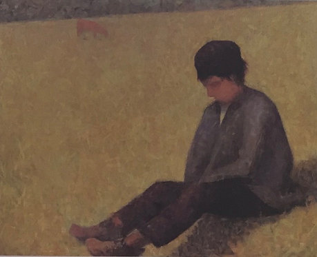 Georges Seurat, Seated Boy in a Meadow