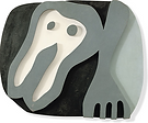 Jean Arp, Shirtfront and Fork, 1922