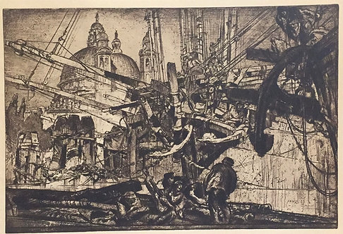 Frank Brangwyn, Breaking up of the Duncan