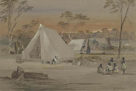 George Rowe, Australian Settlers Huts, 1