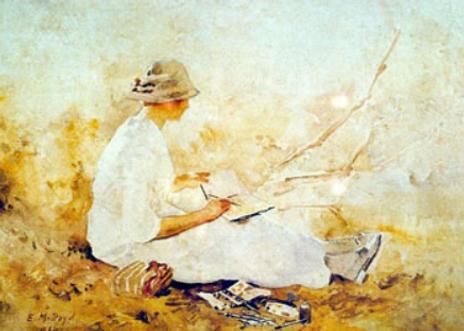 Emma Minnie Boyd, Doris Boyd sketching o