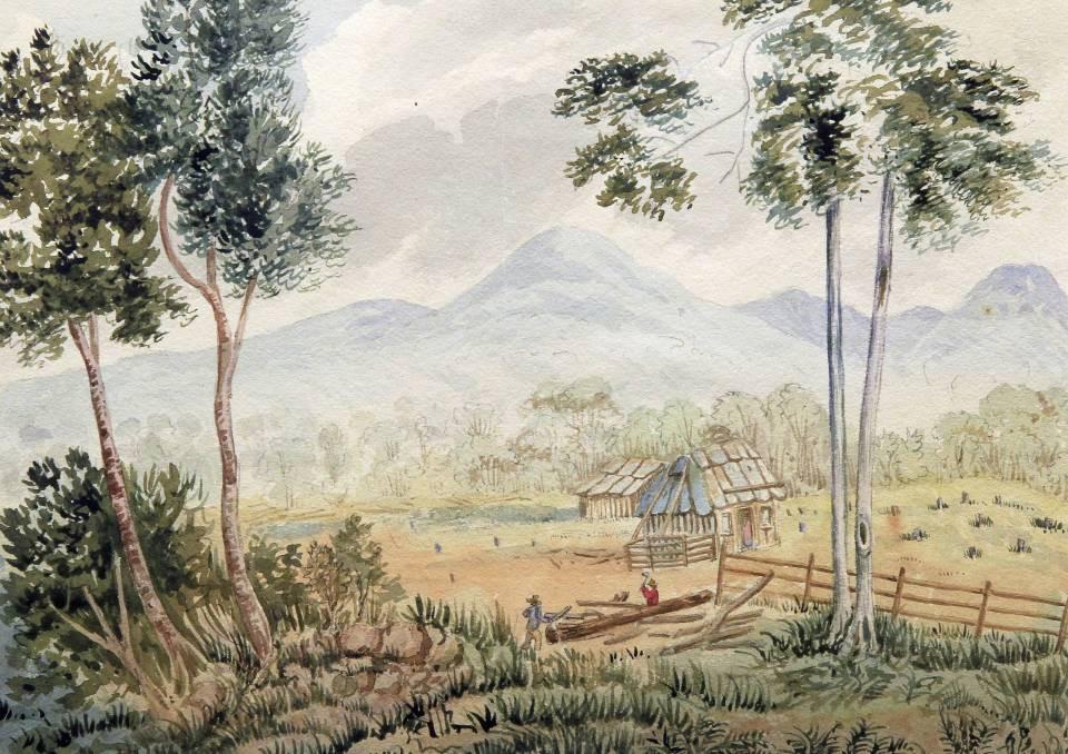 Robert Hoddle, A Settlers hut in Illawarra, 1831