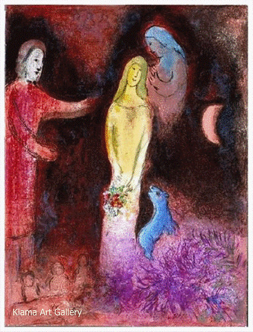Chagall Daphnis and Chloe 1977 Print 320mm x 240mm Chloe Dressed and Coiffured by Clearista