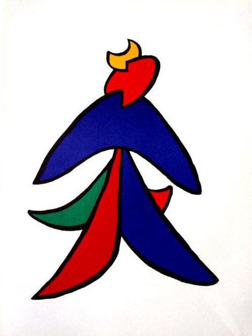 Calder - Plate 5 - Original lithograph - framed