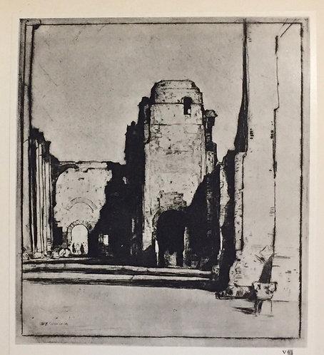 D Y Cameron, Tepidarium, Bathos of Caracalla