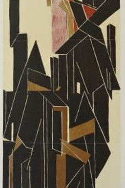 Pablo Palazeulo Original lithograph.  Executed by Palazuelo for Derriere le Miroir in 1955