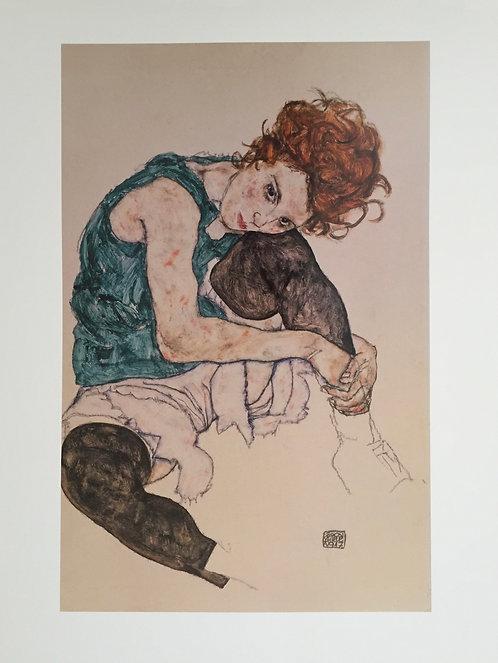 Ergon Schiele, Seated Woman