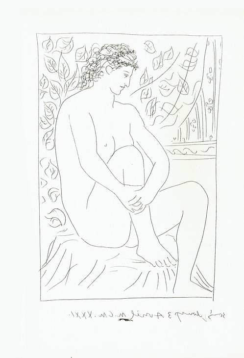 Pablo Picasso, Seated Nude before a Curtain