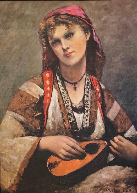 Camille Corot, Gypsy with a Mandolin