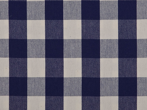 Navy Check Fabric