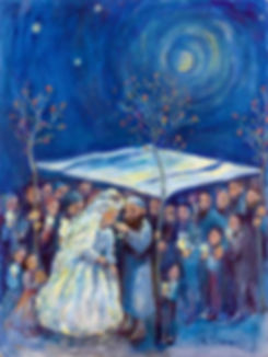 jewish wedding ceremony painting