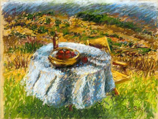 Table in the garden - שולחן בגינה