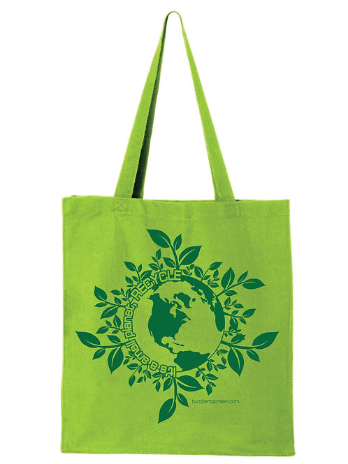 Recycle; It's a Small Planet Canvas Shopper