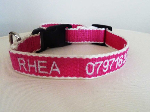 Personalised Eco Friendly Bamboo Collar Pink