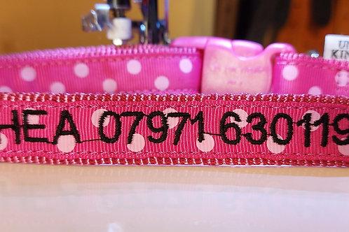 Ancol size 2-5 Nylon Adjustable Personalised Dog Collar.