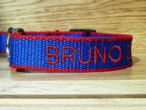 Personalised Eco Friendly Bamboo Collar Navy
