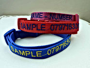 Pet Collar With Embroidered Name