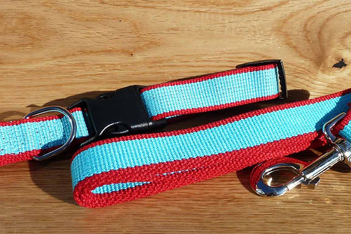 Personalised Eco Friendly Bamboo Collar and Lead Set 4 Colour Available
