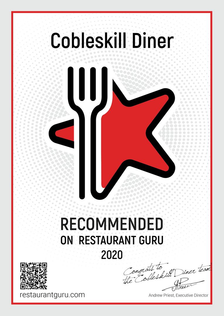RestaurantGuru Certificate 2020