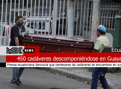 450 cadáveres descomponiéndose en distintos domicilios de Guayaquil