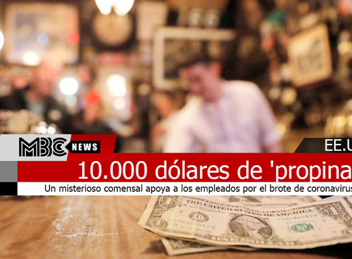 'Propina' 10.000 dólares para ayudar a un restaurante en plena epidemia del coronavirus