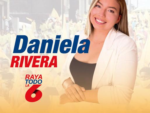 Daniela Rivera Peña, la candidata más jóven a la  asamblea por Europa Asia y Oceanía.
