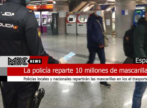 La policía repartirá 10 millones de mascarillas en el transporte público